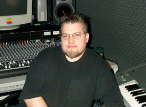Mark Lindsey in the studio